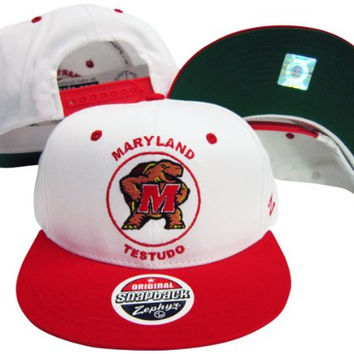 Maryland Terrapins Testudo Mascot Plastic Snapback Adjustable Plastic Snap Back Hat / Cap