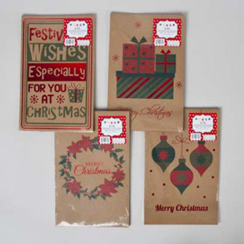 Christmas Kraft Stamp Gift Boxes Case Pack 36
