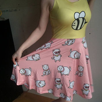 Puppycat and Bee inspired dress