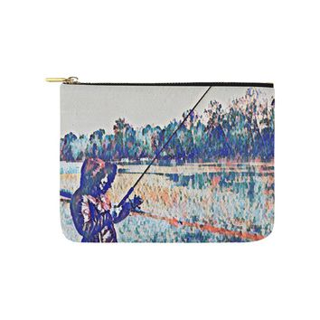 Levi Thang Fishing Design 1 Carry-All Pouch 8''x 6''