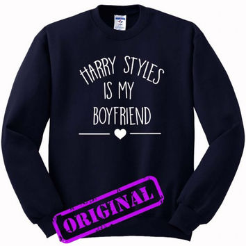 Harry Styles Is My Boyfriend for Sweater navy, Sweatshirt navy unisex adult