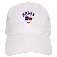 Army USA Heart Cap> Army USA Heart> Flags of Nations and Stuff