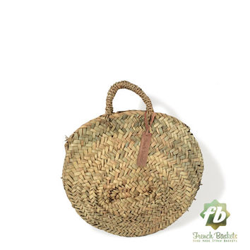Round French baskets chubby Small :  Moroccan Basket, straw bag, french market basket