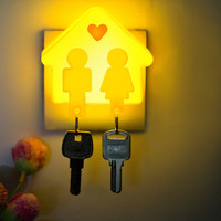 Hot Sale Functional Trendy Creative Gift New Arrival Great Deal Lights Couple LED Keychain [4915329668]