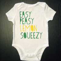 Easy Peasy Onesuit Funny Baby Bodysuit by VicariousClothing on Etsy