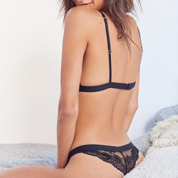 Out From Under Kamaryn Lace Mesh Thong | Urban Outfitters