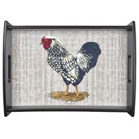 Silver Laced Wyandotte Rooster Barnboards