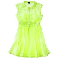 Mossimo® Women's Sleeveless Sheer Shirt Dress -Superb Yellow