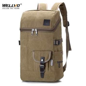Men Huge Travel Bag Army Luggage Bucket Backpack Multifunctional Military Canvas Backpacks Large Shoulder Bags Back Pack XA3WC