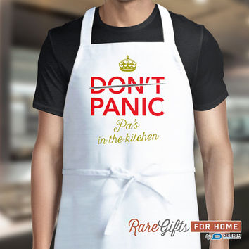 Pa Gift, Awesome Pa, Pa Birthday, Funny Apron, Cooking Gift For Pa, Pa's In The Kitchen, Personalized Pa Gift. Alternative Pa Shirt!