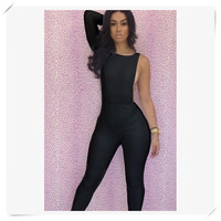 Bodycon Body Suit- Black