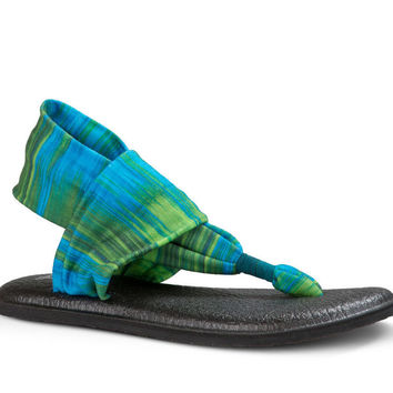 Sanuk Yoga Sling 2 Prints Blue Ikat Sandals