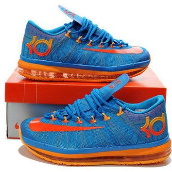 Original 2018 Nike KD 6 Elite Team Orange OKC Blue Hero Brand sneaker