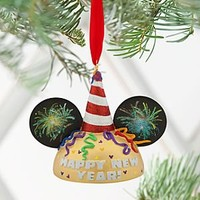 Mickey Mouse Ear Hat Ornament - Happy New Year! | Disney Store