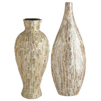 Mother-of-Pearl Vases