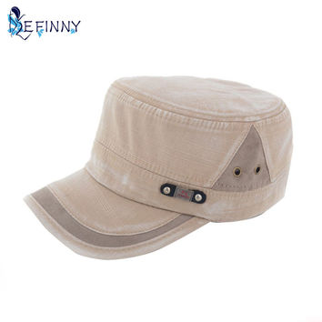2015 New Mens Women Adjustable Army Vintage Hat Plain Cadet Baseball Cap