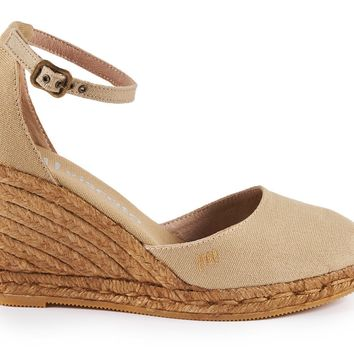 Estartit Canvas Wedges - Beige
