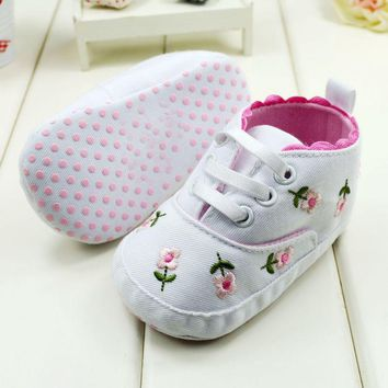 Newest Baby Girl Spring Autumn Princess Shoes Flower Shoes Baby First Walkers Footwear Toddler Soft Sole Shoes
