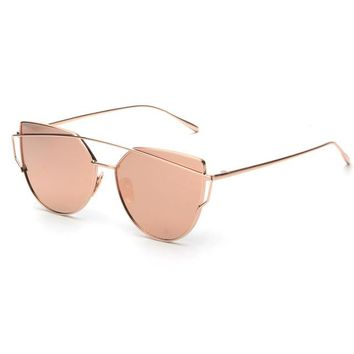 ROYAL GIRL NEW Brand Designer Women Sunglasses Metal Frame Flat Sun glasses Vintage Mirror Shades ss495