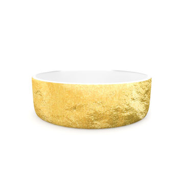 "KESS Original ""Heart of Gold"" Pet Bowl"