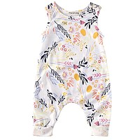 Baby sleeveless Romper Toddler Kids Boy Girl Floral Romper Playsuit Clothes Outfit
