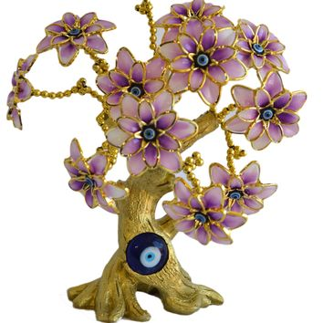 Evil Eye Butterfly Tree Decoration for Protection and Brings Good Luck (Pink)Tree