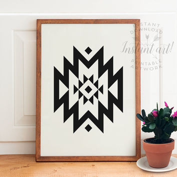 Geometric print PRINTABLE art,modern art,minimalist art,abstract print,mid-century modern,southwestern decor,gallery wall,tribal print