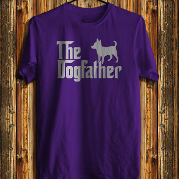 The Dogfather Chihuahua Dogs Men's T-shirt, Dog Lover Men's T-shirt, Awesome Shirt