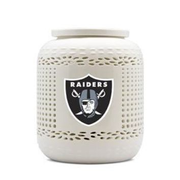 RAIDERS AROMA NIGHT LIGHT WITH PORCELAIN DISH & BASE