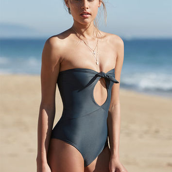 Stone Fox Chai Tie Front One Piece Swimsuit at PacSun.com