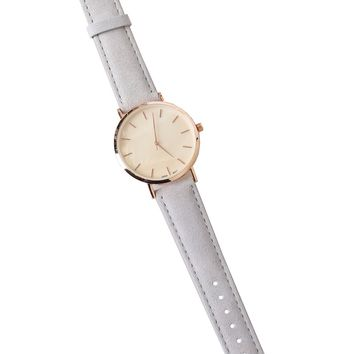 Gray Suede Watch