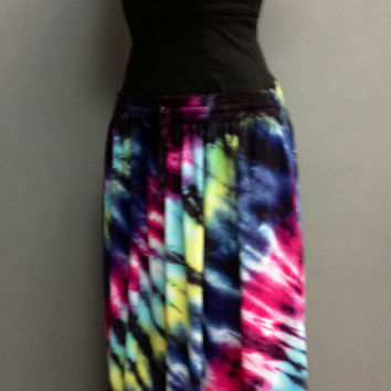 2X Tie-dye Long Rayon Skirt