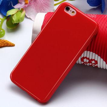 Red Ultra Thin Soft TPU Silicon Candy Color Rubber Gel Phone Back Cover Case For Apple iPhone 5 5s SE 6s 6 Plus 6s Plus