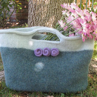 Market, Felted Purse Pattern, Knit Bag Pattern, Felted Purse, Knitted Purse, Knitting Pattern, Instant Download, PDF