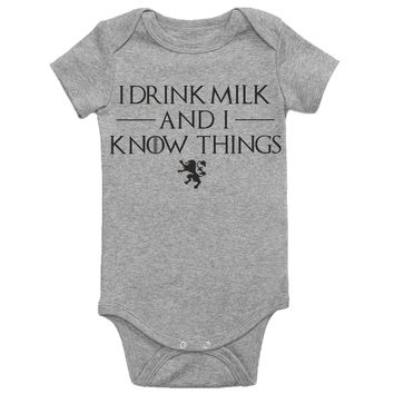 I Drink Milk and I Know Things Baby Shirt