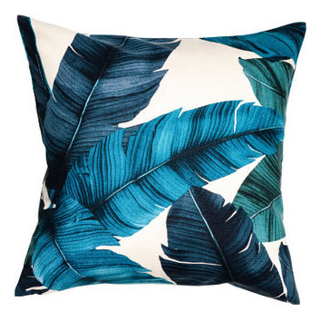 H&M Leaf-patterned Cushion Cover $12.99