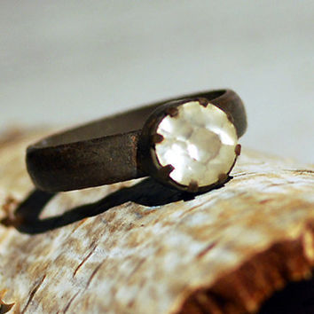 ring from an arhceological dig size 65  Dec 10 by CoolVintage