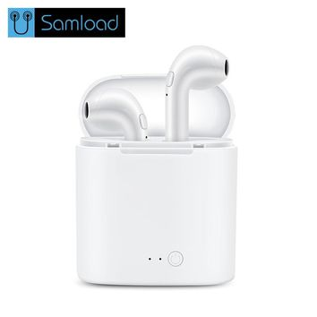 Wireless Bluetooth Earphone I7 TWS Earbuds Headphone Double Twins Stereo Music Headset For Apple ipad iPhone 6 i7 Xiaomi Huawei