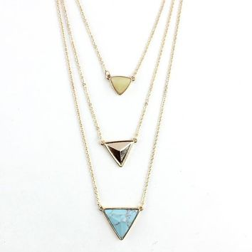 New Arrival Gift Jewelry Stylish Shiny Turquoise Accessory Necklace [10794313991]