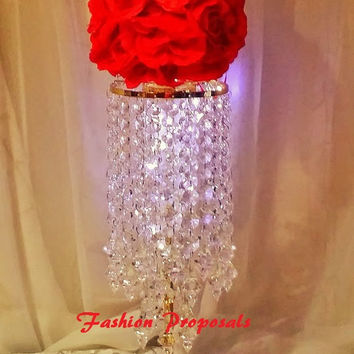 20 Wedding Crystal candelabra, candle holder, candelabra with flower vase set of 20 crystal wedding centerpieces 799.00
