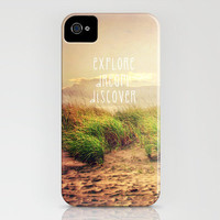 explore dream discover iPhone Case by Sylvia Cook Photography | Society6