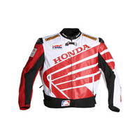 Moto Racer Sporty Honda Leather Motorcycle Jacket