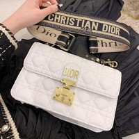 Dior Fashion Women Shopping Bag Leather Crossbody Satchel Shoulder Bag White