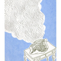 """ORIGINAL SERIGRAPHY print """"Intimate song in blue"""""""