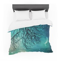 """Sylvia Cook """"Winter Moon"""" Featherweight Duvet Cover"""