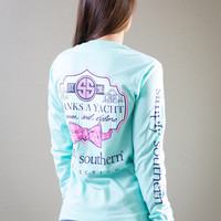 Simply Southern Thanks A Yacht Long Sleeve - Mint Green