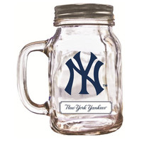 Duckhouse 16 Ounce Mason Jar - New York Yankees