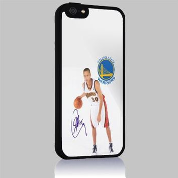 Stephen Curry Splash Golden State Warrior Signature for Iphone 4/4s 5 5c 6 6plus Case (Iphone 6 black)