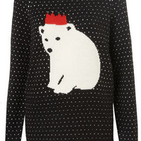 Knitted Xmas Polar Bear Jumper - Knitwear  - Apparel