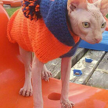 Sphynx Cat Clothes Warm Cat Clothes Cat Sweater Warm Cat Clothes Ready To Ship